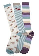 3 Pair pack of Ladies Long Socks - Knee High Boot socks