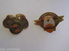 Harley Davidson PIN  Vest, Lapel, Hat, SET OF 2 VINTAGE 1989 HD OFFICAL PRODUCT