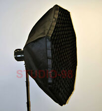 48 In 120 Cm Octagon Softbox + Deep Grid +Speedring For Einstein E640 Flash New