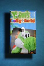 Super Mario Yoshi's Wooly Video Game Light Switch gamer room decor nintendo wii
