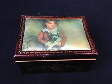 VINTAGE SANKYO MUSIC BOX WE ONLY JUST BEGUN W/  PICTURE OF MASTER SIMPOSON COVER