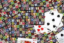 Personalized Playing Cards featuring QUINN in letters from photos of signs