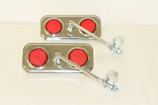 2 X Dragster Bike Retro Chrome Handlebar Mirrors Vintage Bicycles 140mm arm 6309