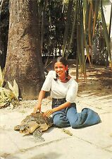 BR43493 Guadeloupe pour preparer un bon repas a la tortue turtle meal    France