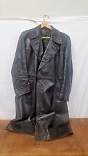 WWII German Leather Trench Coat Dress Uniform Officer Elite Tunic Jacket