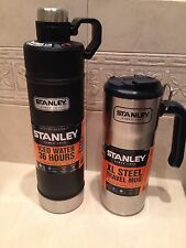 Stanley Lot Classic Vacuum Water Bottle 25oz & XL Steel Travel Mug 20oz Thermos