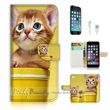 iPhone 6 Plus (5.5') Flip Wallet Case Cover! P1080 Kitty Pussy Cat