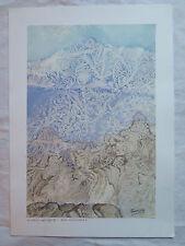 Il gelo nell'arte - Alta montagna DIPINTO VINTAGE PAESAGGIO TECNICA DEL GELO p11