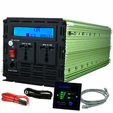 3000W 6000W 12V dc to  220V ac  Car Power Inverter with LCD & cables & remote