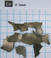 1 troy ounce (31,1 gram) Cobalt metal pieces  99,9% - Element 27 sample