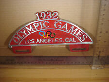 1932 OLYMPIC GAMES LOS ANGELES, CALIFORNIA LICENSE PLATE FRAME TOPPER WALL