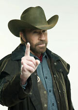 Framed Print - Chuck Norris SAYS NO! (Picture Poster Man Cave Movie Film Art)