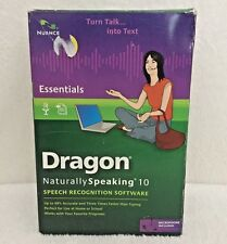 NEW Nuance Dragon Naturally Speaking 10 Essentials PC w/ Headset