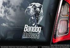 Bandog - Car Window Sticker - Dog on Board Sign - Bandogge Gift