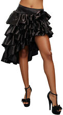 Satin Multi Layer Ruffle High-Low Skirt Pirate Gypsy Costume Accessory NEW XL
