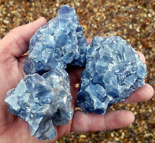 1 x Blue Calcite Crystal mineral specimen 150g to 200g. Ref:BCL Crystals