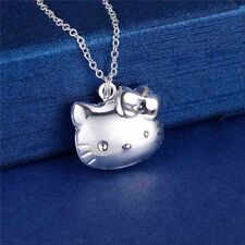 Hello Kitty 925 Silver Plated Photo Locket Pendant Chain Necklace *UK*