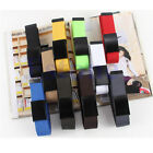 Unisex Waist Belt Mens Boys Plain Webbing Waistband Casual Canvas Belt 10 Colors