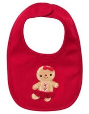 GYMBOREE GINGERBREAD GIRL RED GINGERBREAD COOKIE REVERISBLE BIB NWT-OT
