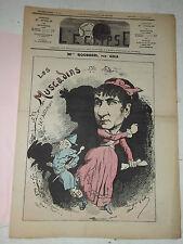 L'ECLIPSE,N°363 journal du 10 OCTOBRE 1875,( M. Melle ROUSSEIL )  par GILL