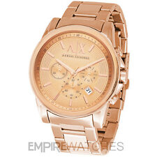 *NEW* MENS ARMANI EXCHANGE BANKS ROSE GOLD WATCH - AX2502 - RRP £195.00