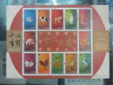 China Hong Kong 2011 Mini S/S Cycle 12 Animal Rabbit  Zodiac stamps