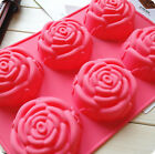 Mold Mould New 6-Rose Silicone Ice Cube Soap Candy Chocolate Cake Cookie Cupcake