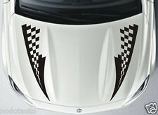 Car Grid racing sport flags Stripe Hood decals Vinyl Graphics stickers #CG169