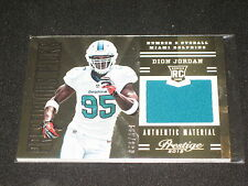 DION JORDAN DOLPHINS ROOKIE 2013 PACK PULLED PANINI CERTIFIED JERSEY CARD /399