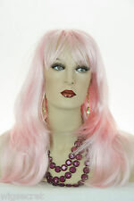 Pink Blonde Long Skin Top Straight Wigs