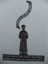 Brass rubbing HEADBOURNE WORTHY HAMPSHIRE, JOHN KENT 1434  .. 83/1