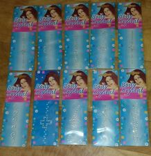 10 x TEMPORARY SELF ADHESIVE BODY ART CRYSTALS - SPARKLY