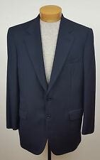 Brioni Navy Blue Herringbone Palatino Style Wool Two-Button Blazer Size 42 R