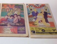 Lot of Two 1996 & 1999 THE SIMPSONS Sunday Newspaper TV Listing Supplements