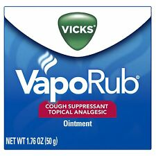 Vicks VapoRub Cough Suppressant Topical Analgesic Ointment, 1.76 Oz (3 Pack)