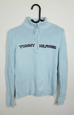 WOMENS VTG RETRO BLUE TOMMY HILFIGER ATHLETIC SPORTS OVERHEAD JUMPER SWEATER 8