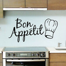 Bon Appetit Cuisine stickers Vinyle Amovible Art Citation Lettrage Graphique