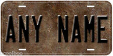 Personalized Rust Metal Background Any Name Novelty Car License Plate