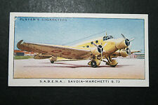 SABENA  Savoia-Marchetti S73  Airliner      1930's Original Vintage Card