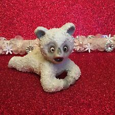Vintage Styson Snow Baby Bear Chunky Fur Christmas Figurine Japan 1951