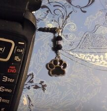 Dog Paw Black Cell Phone Charm~Dust Plug Cover~$1 SHIP