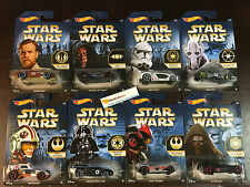 Hot Wheels STAR WARS Series * 2015 Complete 8 Car Set * Limted Edition Walmart