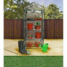 NEW GREENHOUSE COLD FRAME 4 TIER WITH SHELVING & REINFORCED COVER OUTDOOR GARDEN