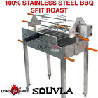 Spit Roast Stainless Steel BBQ Charcoal Cyprus Brazil Souvla Rotisserie Grill