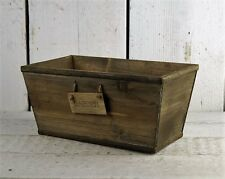 Rustic Wooden Garden Planter Trug Herbs Bulbs Plants Shabby Flowers Storage Box