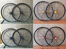 "New Mavic 319 Rim 4 Color Modeng Hubs MTB 26"" Front & Rear Wheels Disc Wheelset"