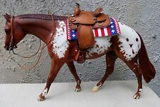 Breyer-Peter Stone LSQ Saddle Blanket Pad accessory 4th of July Sparkle flag