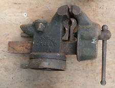 "VINTAGE 505a ROCK ISLAND swivel BENCH VICE w/ 4"" ANVIL"
