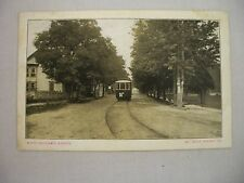 VINTAGE POSTCARD A STREET CAR ON NORTH BALTIMORE AVENUE IN MT. HOLLY SPRINGS, PA