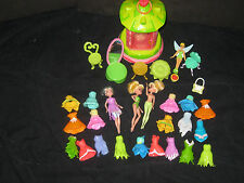 Tinkerbell Tinker Bell Polly Pocket Dolls Clothes Furniture Toy Lot